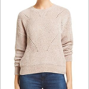 NWT Aqua Chenille Pointelle Sweater